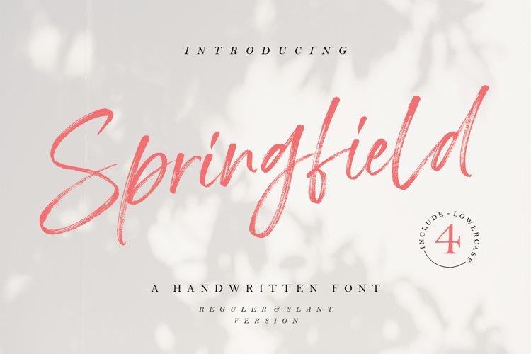 Springfield - Handwritten Font example image 1