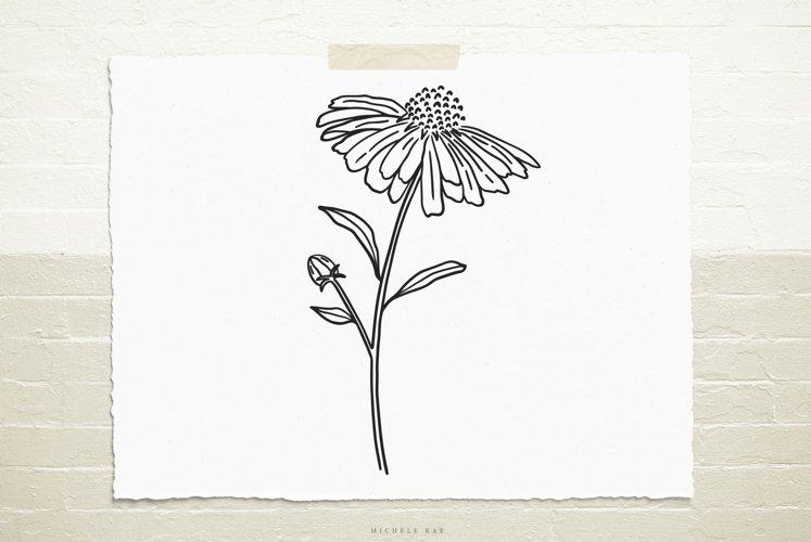 Daisy flower svg cut file