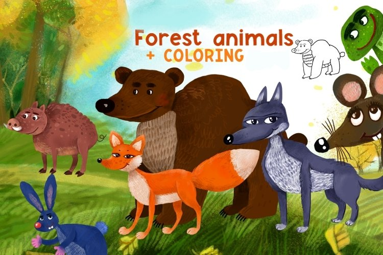 Forest animals/Autumn example image 1