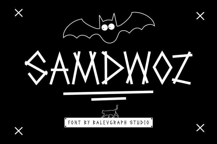 Samdwoz Graffiti Typeface example image 1