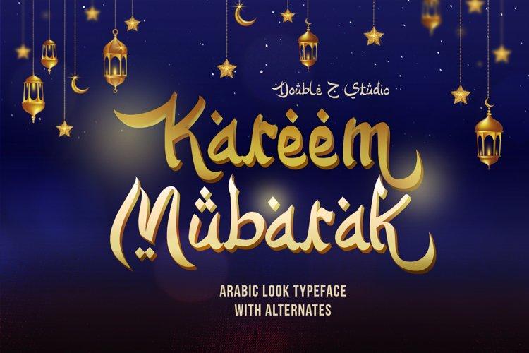 Kareem Mubarak Arabic Look Font example image 1