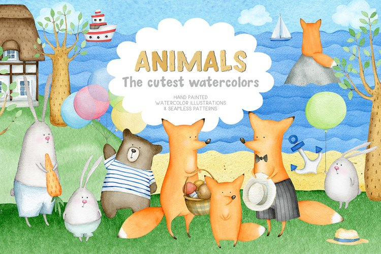 Animals. Cutest Watercolors