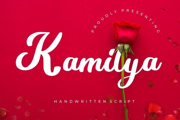 Kamilya Handwritten Script example image 1