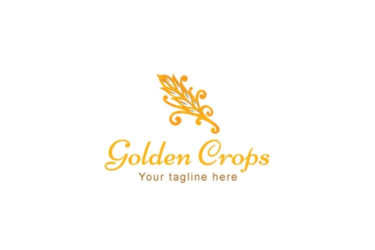 Golden Crops - Grain Bristle Stock Logo Template example image 1