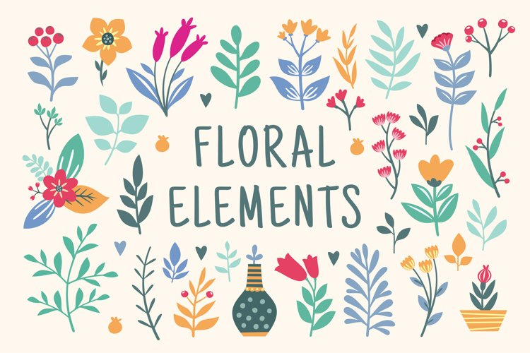 Beautiful Floral graphics and illustrations example image 1
