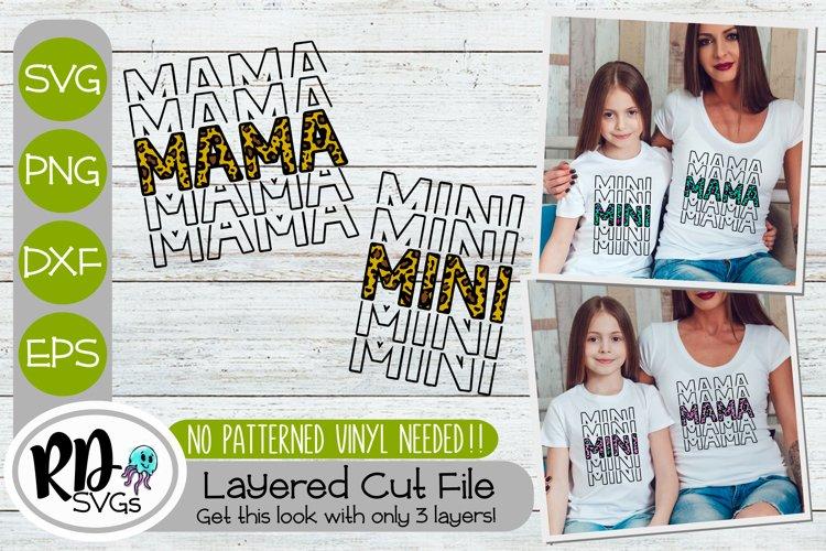 Mama Mini Repeating - A Matching Layered Cricut SVG