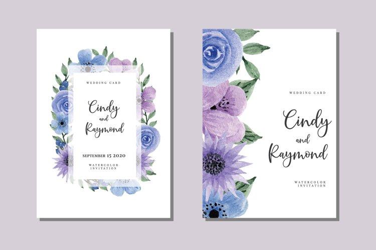 Vintage Flower Bouquet Watercolor Wedding Invitations SVG example image 1