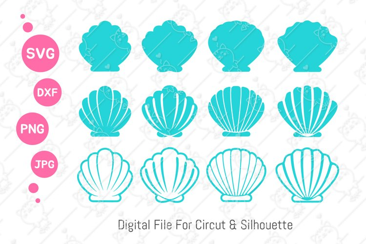 Shell SVG |Seashell PNG | Mermaid Shell SVG | svg dxf png