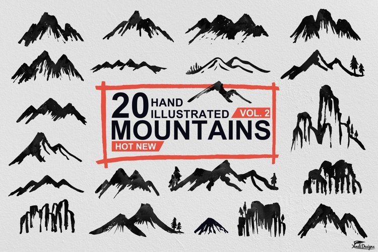 Hand Illustrated Mountain Vol. 2 example image 1