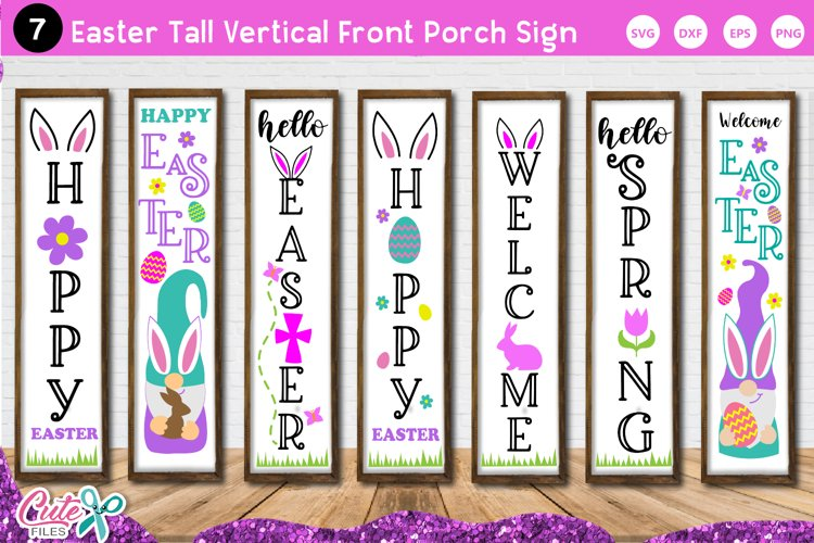 Easter Tall Vertical Front Porch Sign SVG