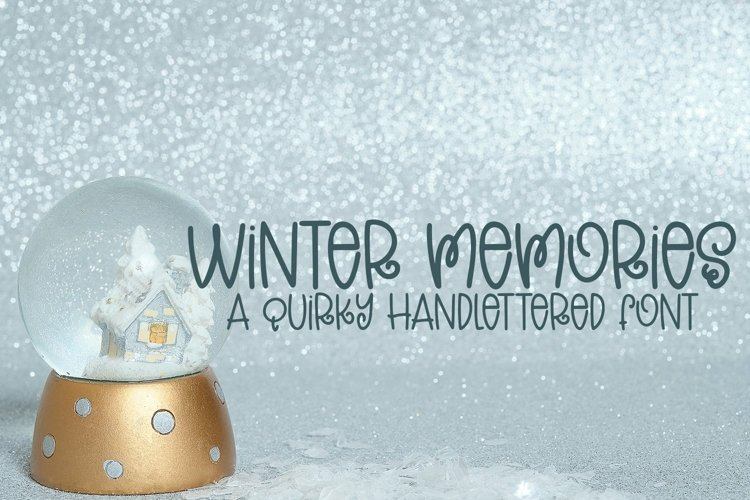 Web Font Winter Memories - A Quirky Hand-Lettered Font example image 1