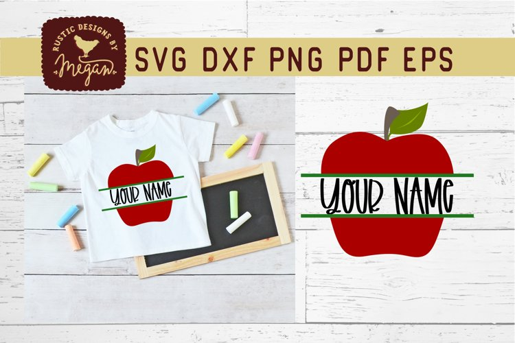 Back To School Apple Monogram SVG example image 1
