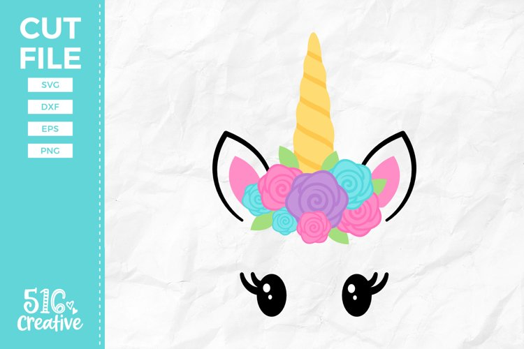 Unicorn Face SVG DXF EPS PNG example image 1