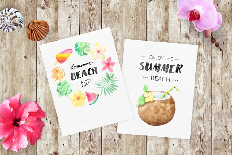 Watercolor Beach Set example 4