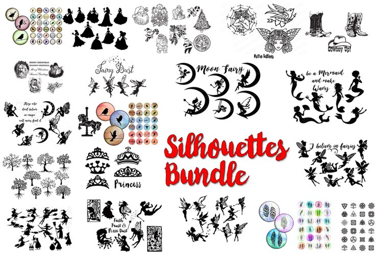 Silhouettes Bundle Collection 20 products in one bundle
