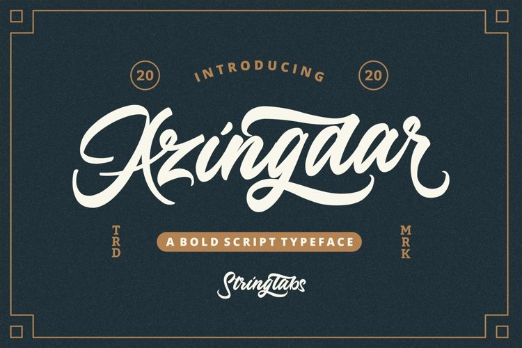 Azingdar - Retro Bold Script Font example image 1