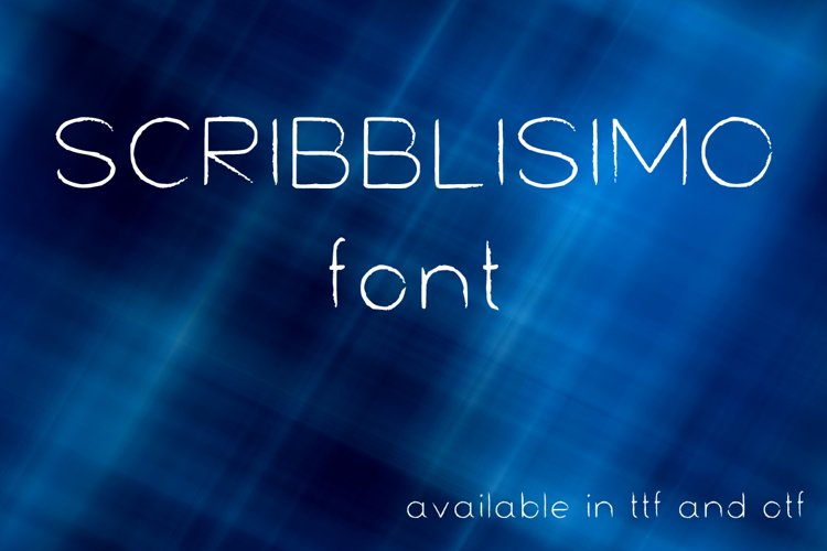 Scribblisimo font example image 1