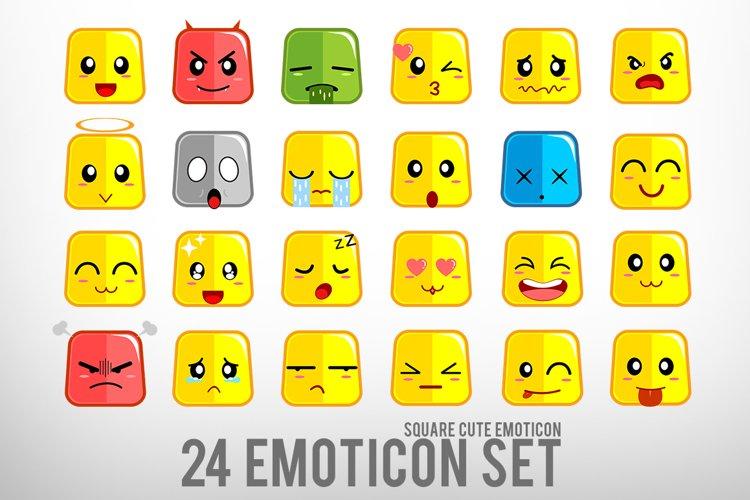 Square Cute Emoticon example