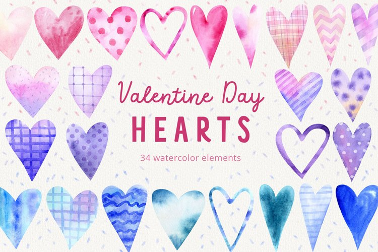 Valentine Day Doodle heart clipart