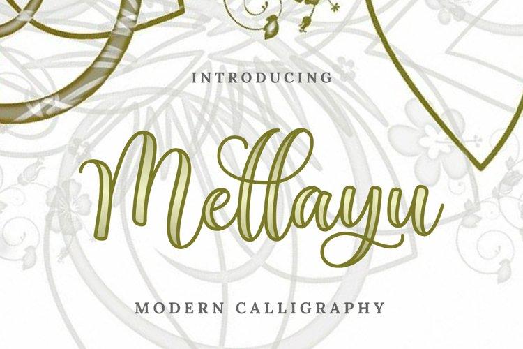 Mellayu   Modern Calligraphy example image 1