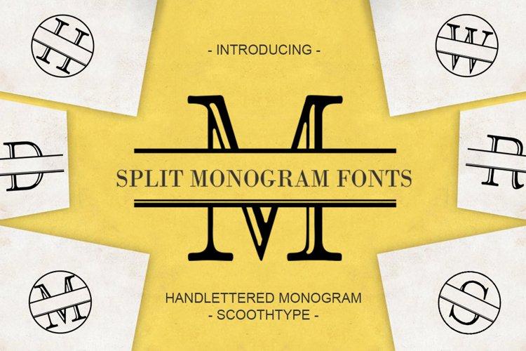 Split Letter Monogram Font example image 1