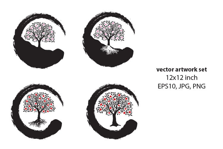Tree of life - VECTOR ARTWORK SET