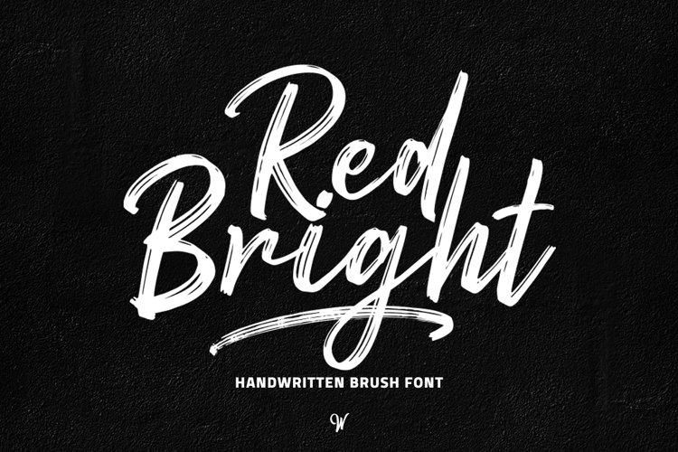 Red Bright - Brush Font example image 1