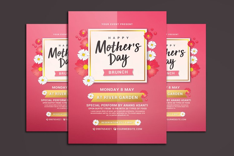 Mothers Day Brunch Flyer example image 1