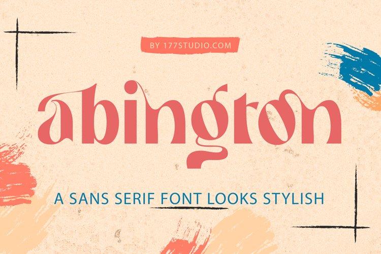 Abington - Stylish Sans Serif Font example image 1