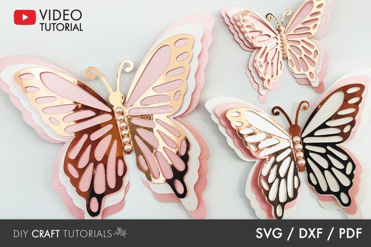 BEST SELLER - Butterfly SVG, 3D Butterfly SVG