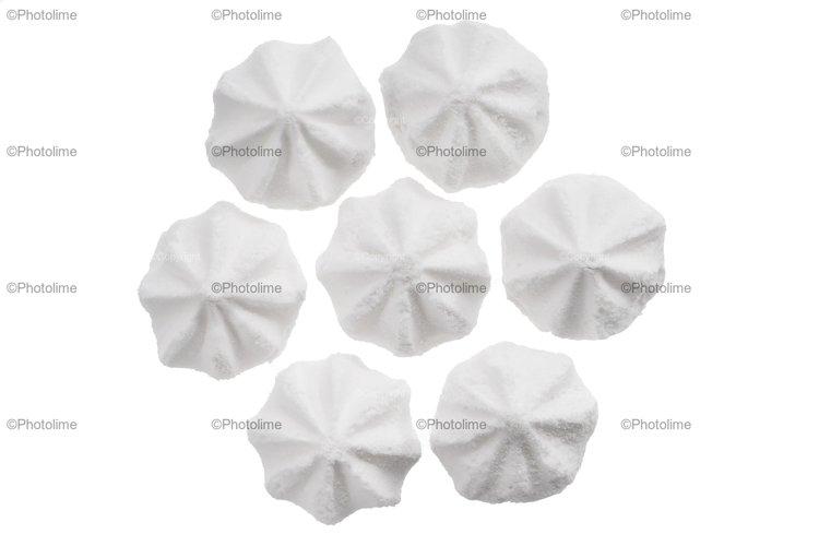 Set of white meringue cookie isolated on white example image 1