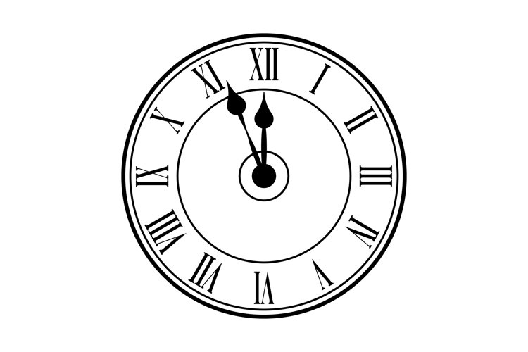 Clock watch with roman numerals icon example image 1