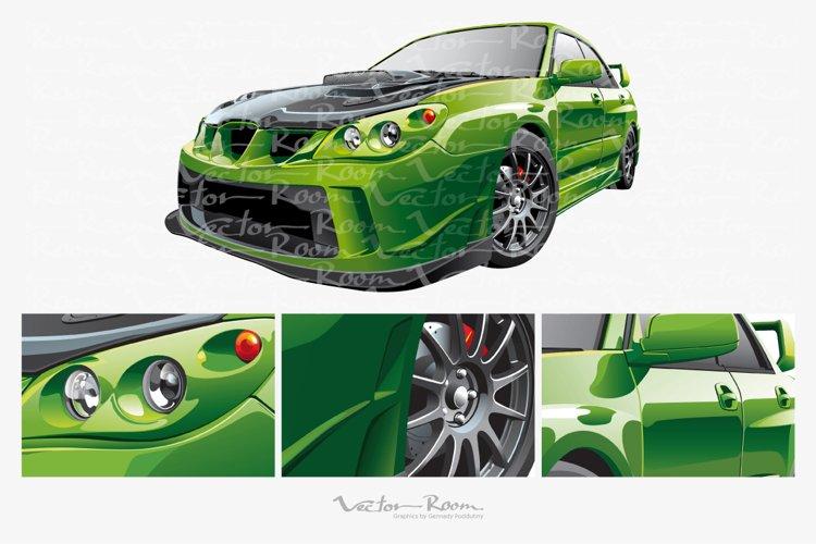 Green Custom Car example image 1