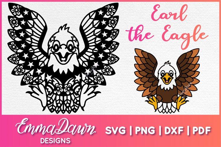 EARL THE EAGLE SVG ZENTANGLE MANDALA DESIGN example image 1