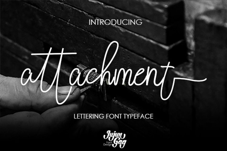 Attachment Lattering Font example image 1