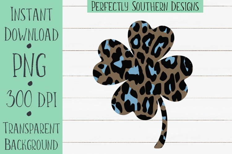 Blue cheetah four leaf clover example image 1