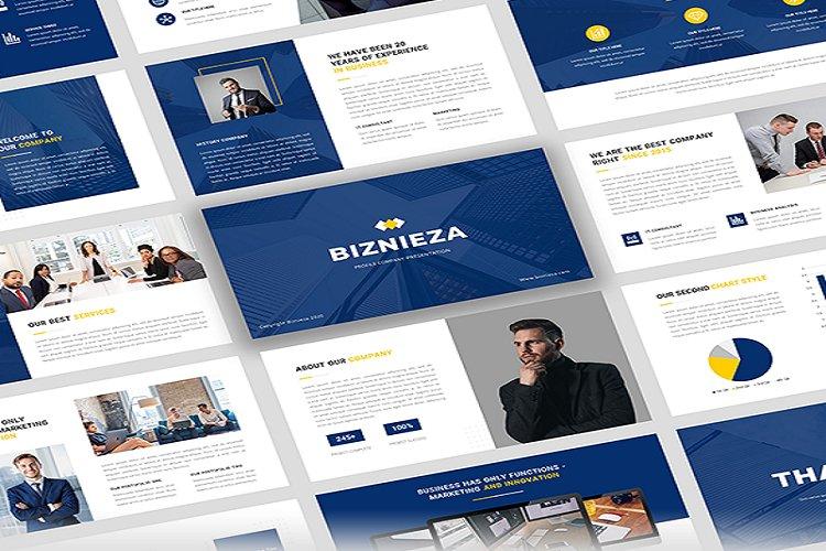 Biznieza - Company Profile Powerpoint Template example image 1