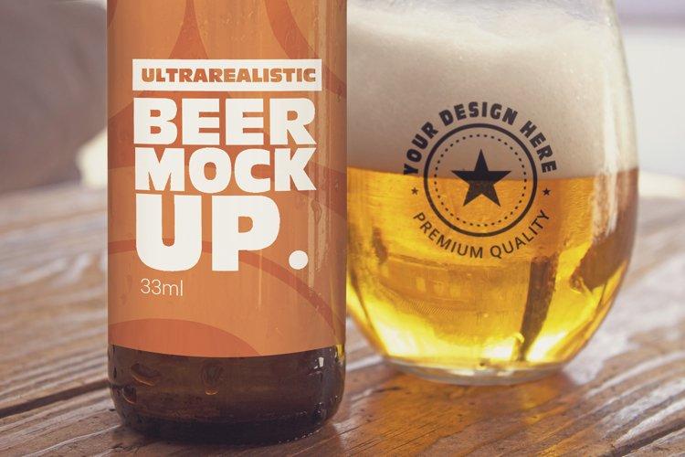 Label & Cup Beer Mockup