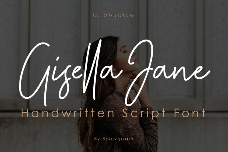 Gisella Jane Handwritten Script Font example image 1