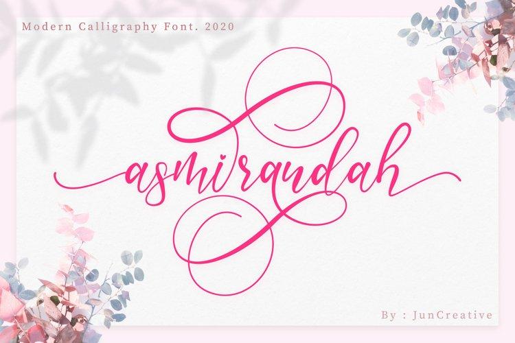 Asmirandah Modern Script example image 1