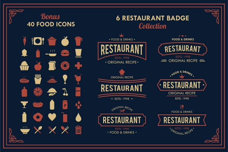 Restaurant Logo And Badge Vol. 2
