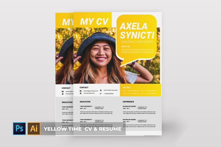 Yellow Time | CV & Resume example image 1