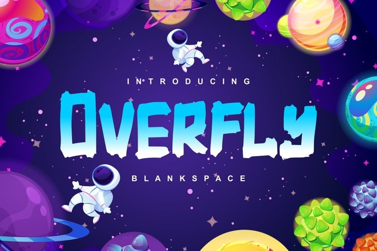 Overfly | Blank Space Script Font example image 1