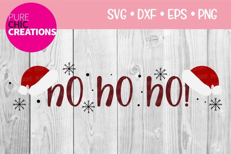 Christmas SVG HO HO HO! SVG DXF PNG EPS example image 1