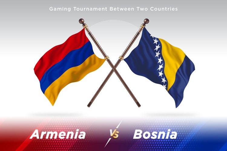 Armenia vs Bosnia and Herzegovina Two Flags example image 1