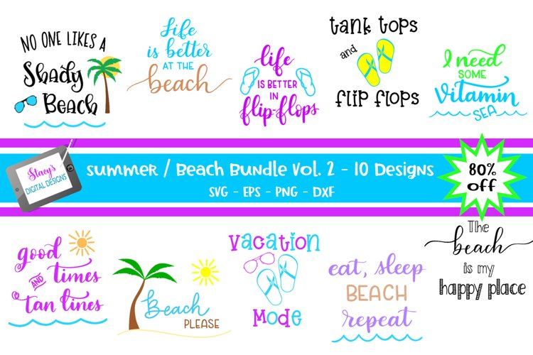 Summer / Beach SVG bundle Vol. 2 - 10 Summer SVG designs