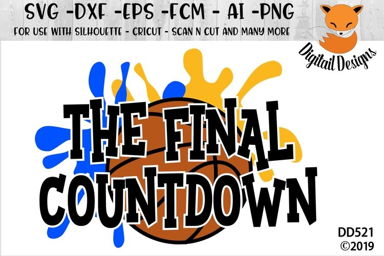 Basketball Final Countdown SVG