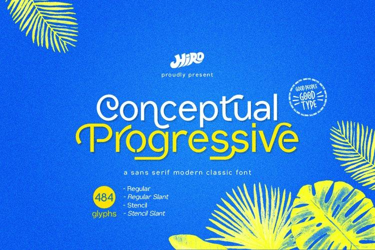 Conceptual Progressive Font example image 1