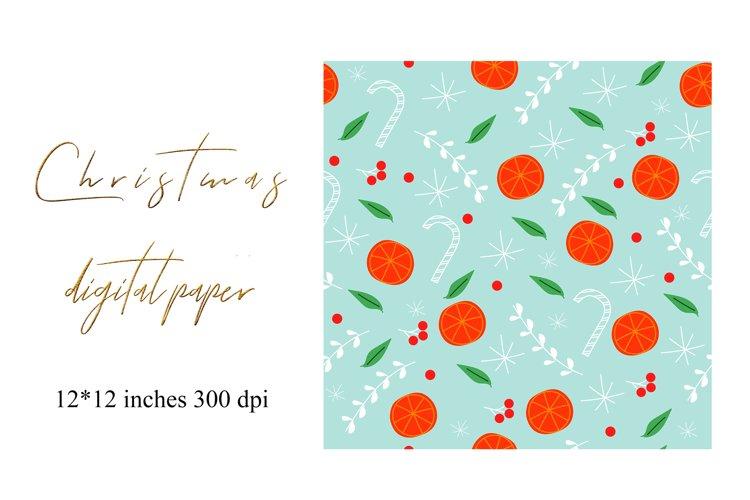Christmas Digital Paper. Christmas Seamless Pattern. example image 1