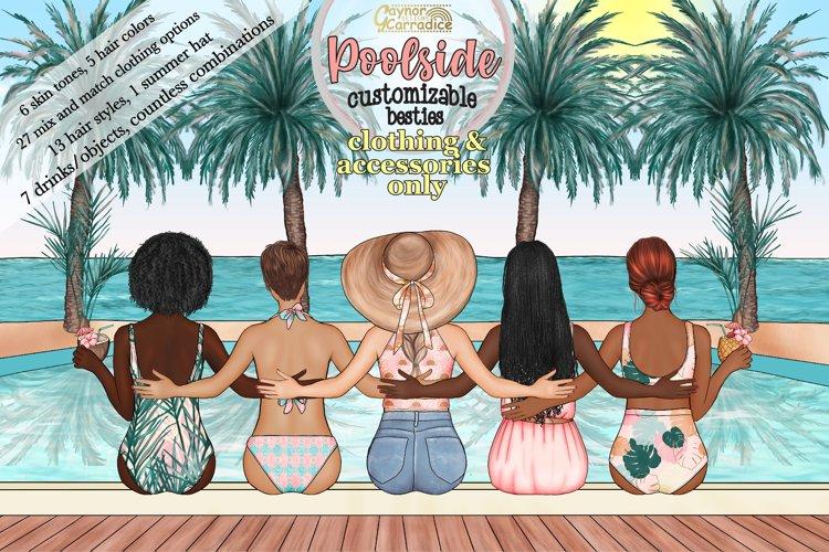 Poolside Besties ADD ON Customizable best friends clipart